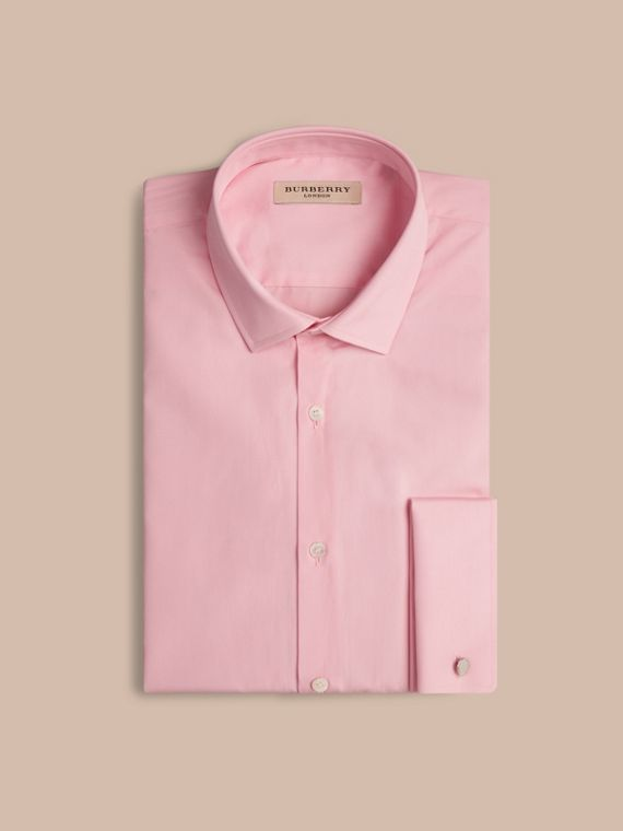 City pink Modern Fit Double-cuff Cotton Poplin Shirt City Pink - cell image 3
