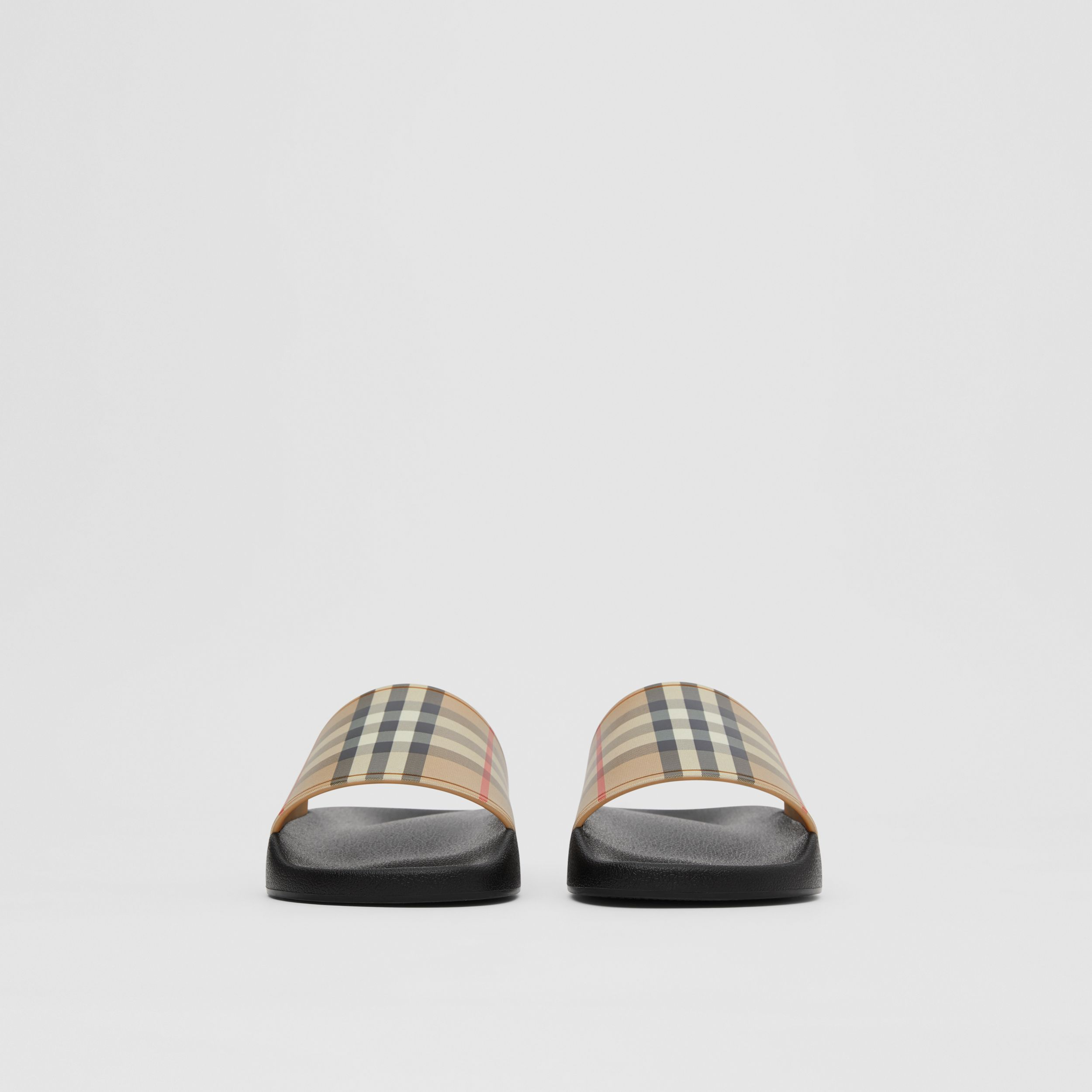 Vintage Check Slides in Archive Beige - Women | Burberry United Kingdom - 4