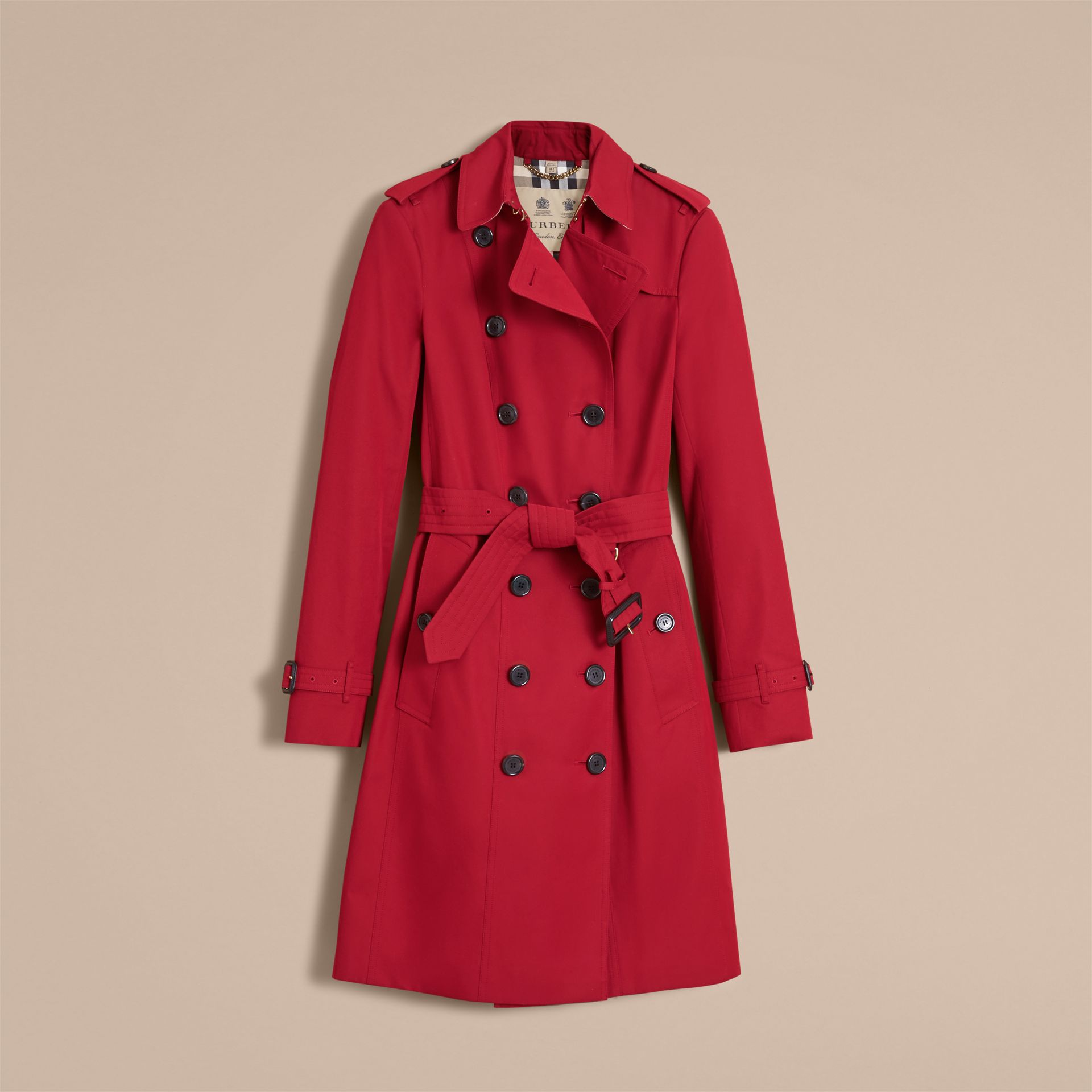 Parade red The Sandringham  – Long Heritage Trench Coat - gallery image 5