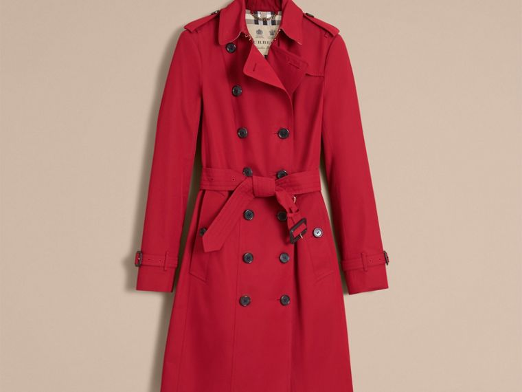 Parade red The Sandringham  – Long Heritage Trench Coat - cell image 4