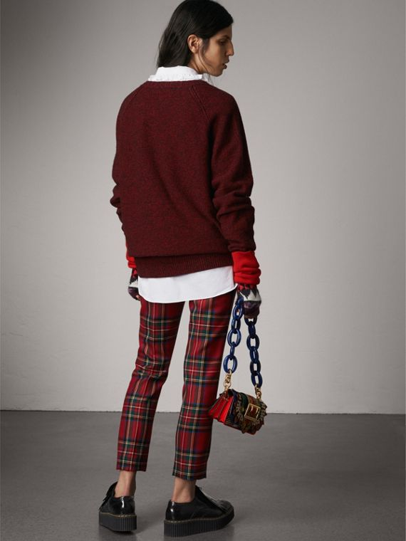Melange Wool Sweater in Parade Red - Women | Burberry - cell image 2