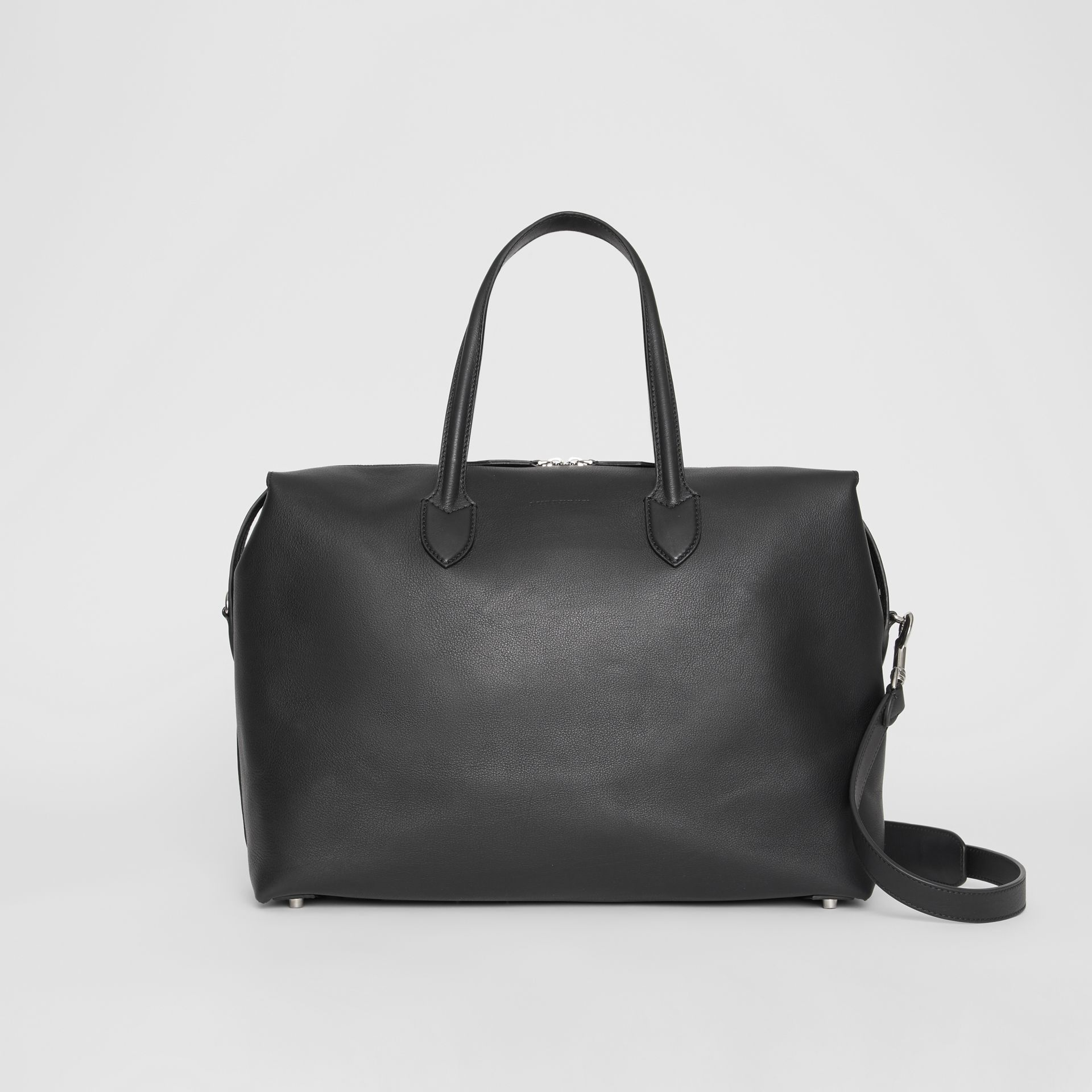 Soft Leather Holdall in Black - Men | Burberry - gallery image 0