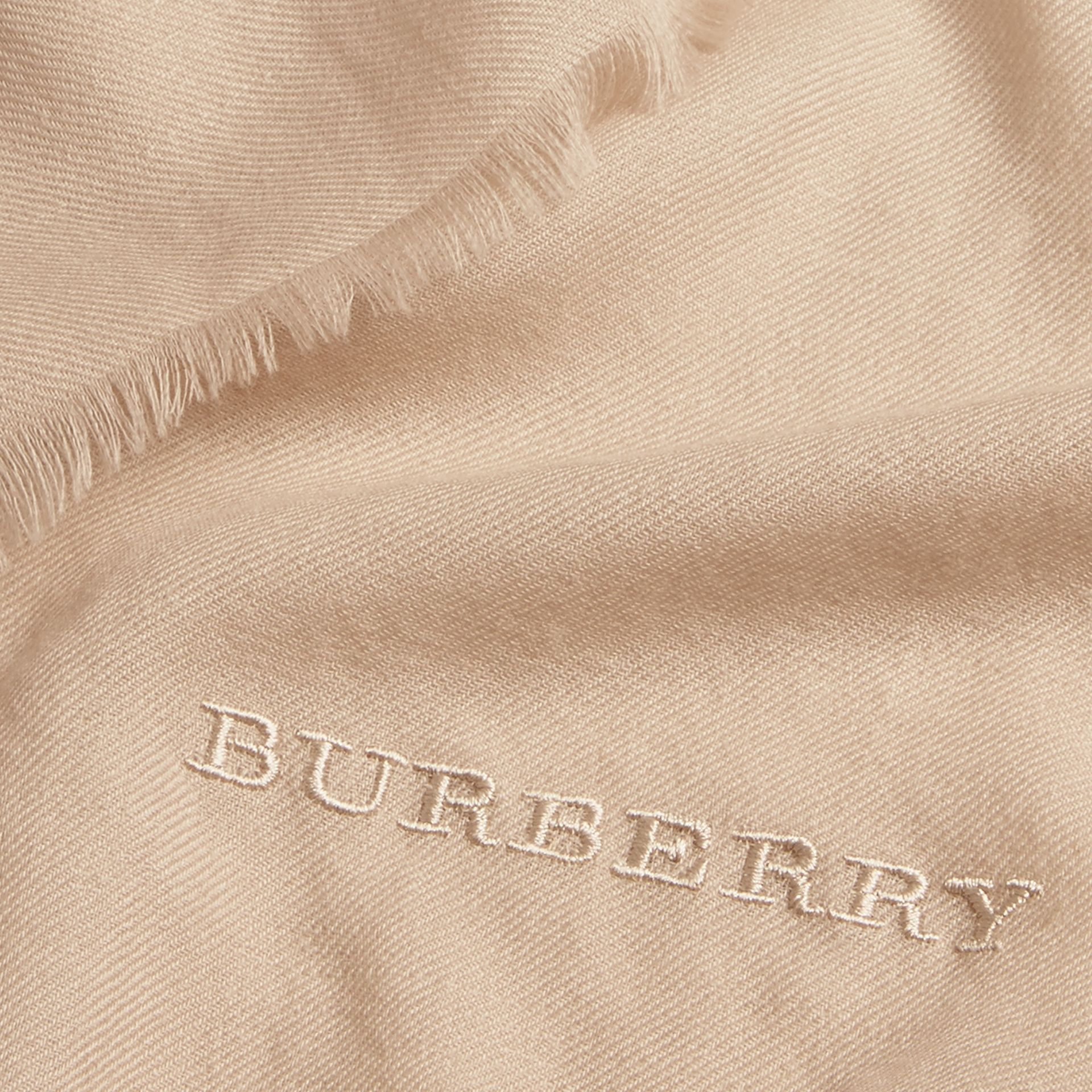 The Lightweight Cashmere Scarf in Stone | Burberry Singapore - gallery image 5