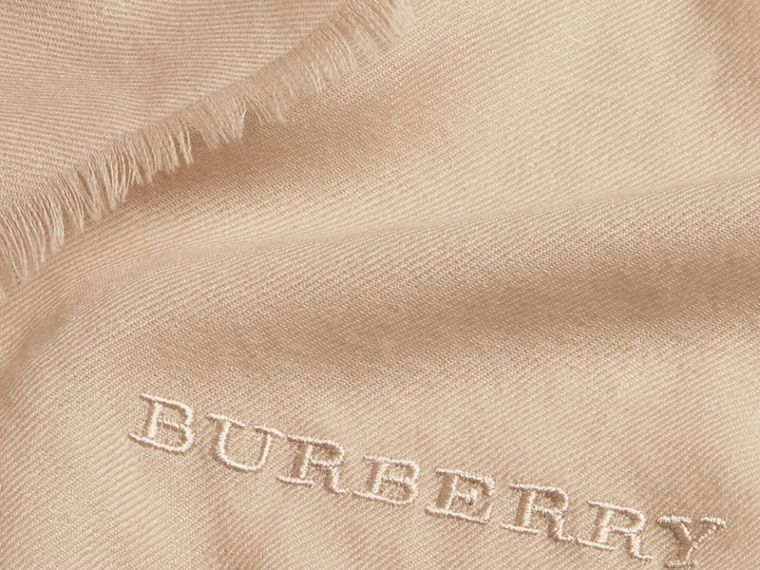 The Lightweight Cashmere Scarf in Stone | Burberry - cell image 4