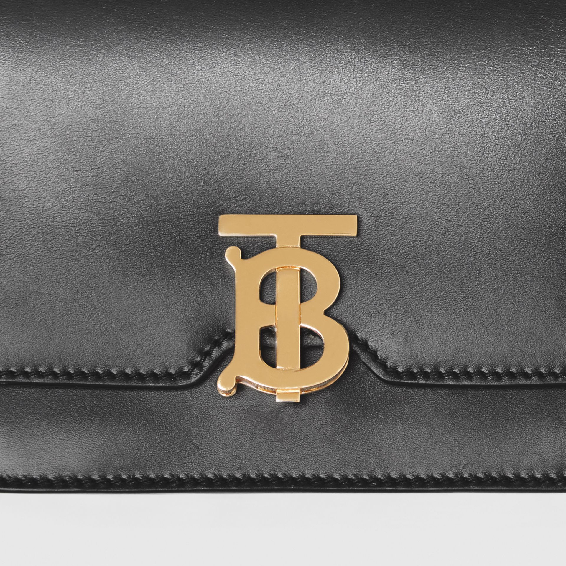 Belted Leather TB Bag in Black - Women | Burberry United Kingdom - gallery image 1