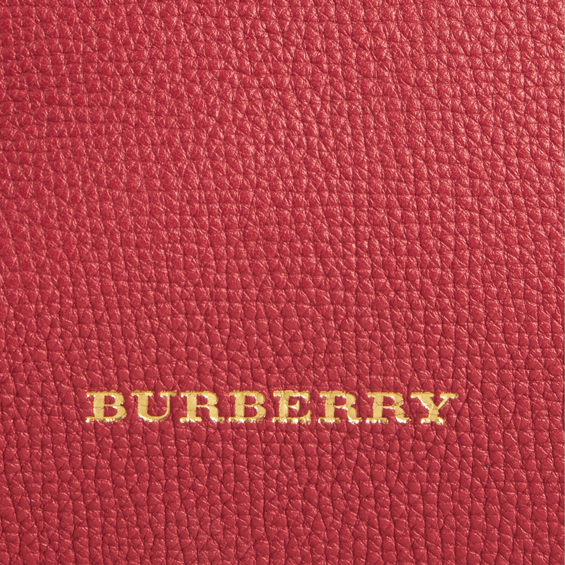 The Small Banner in Leather and House Check Russet Red - gallery image 2