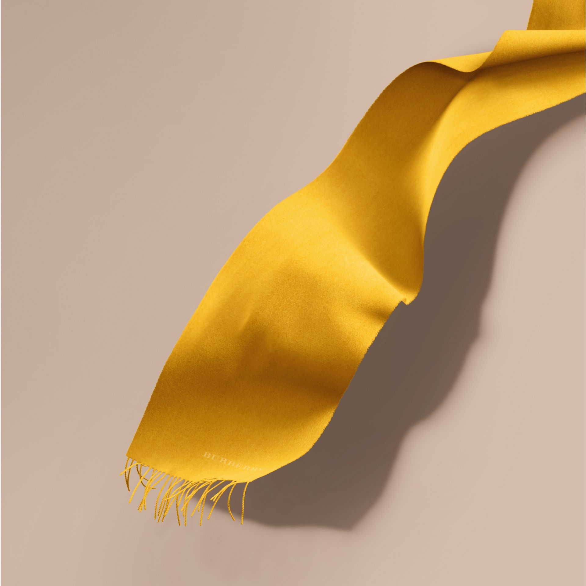 The Classic Cashmere Scarf in Gorse Yellow | Burberry Australia - gallery image 1