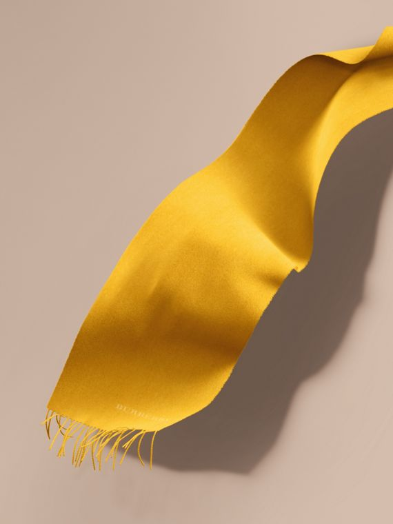 The Classic Cashmere Scarf in Gorse Yellow