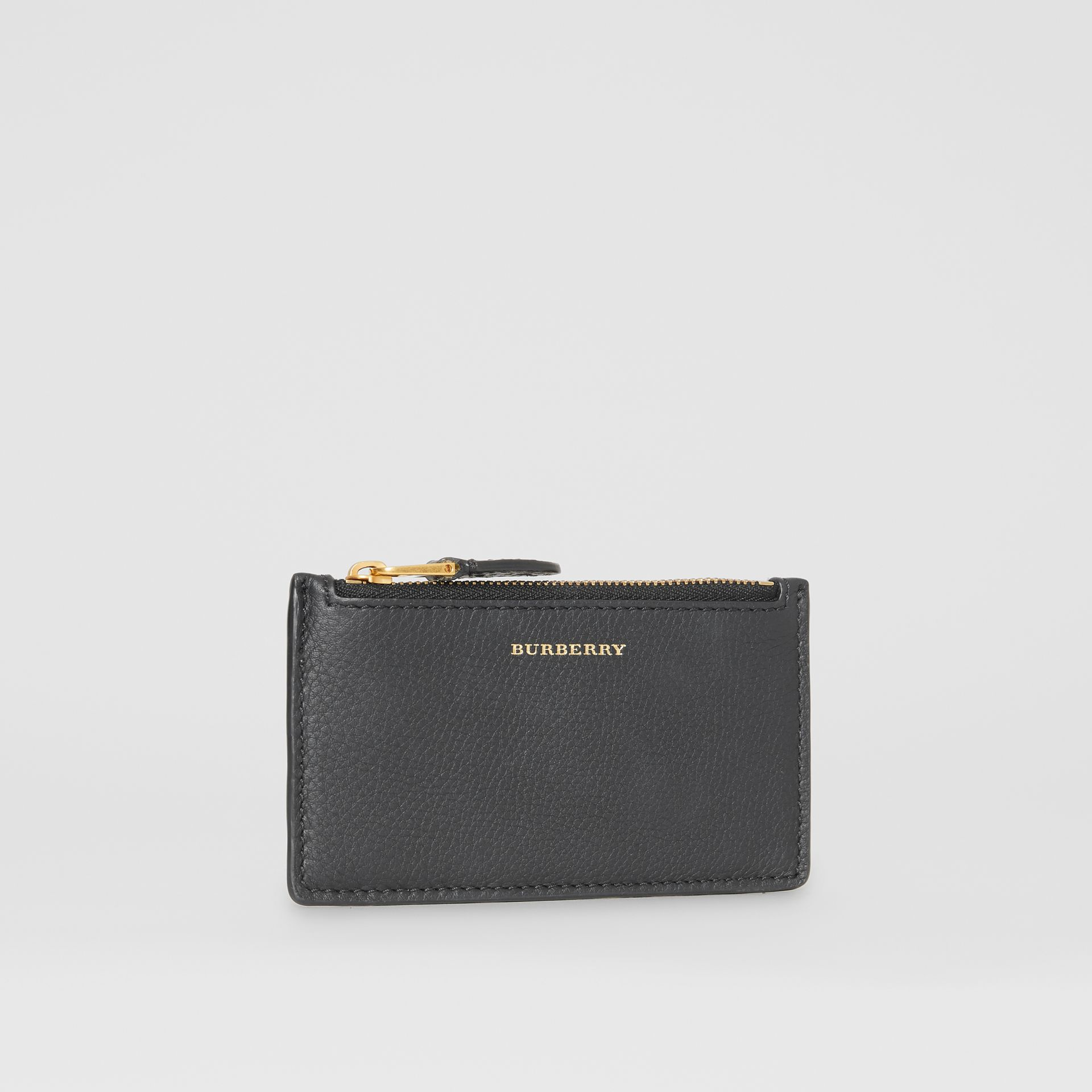Two-tone Leather Zip Card Case in Black | Burberry Singapore - gallery image 3