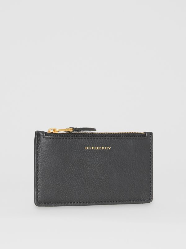 Two-tone Leather Zip Card Case in Black | Burberry Singapore - cell image 3