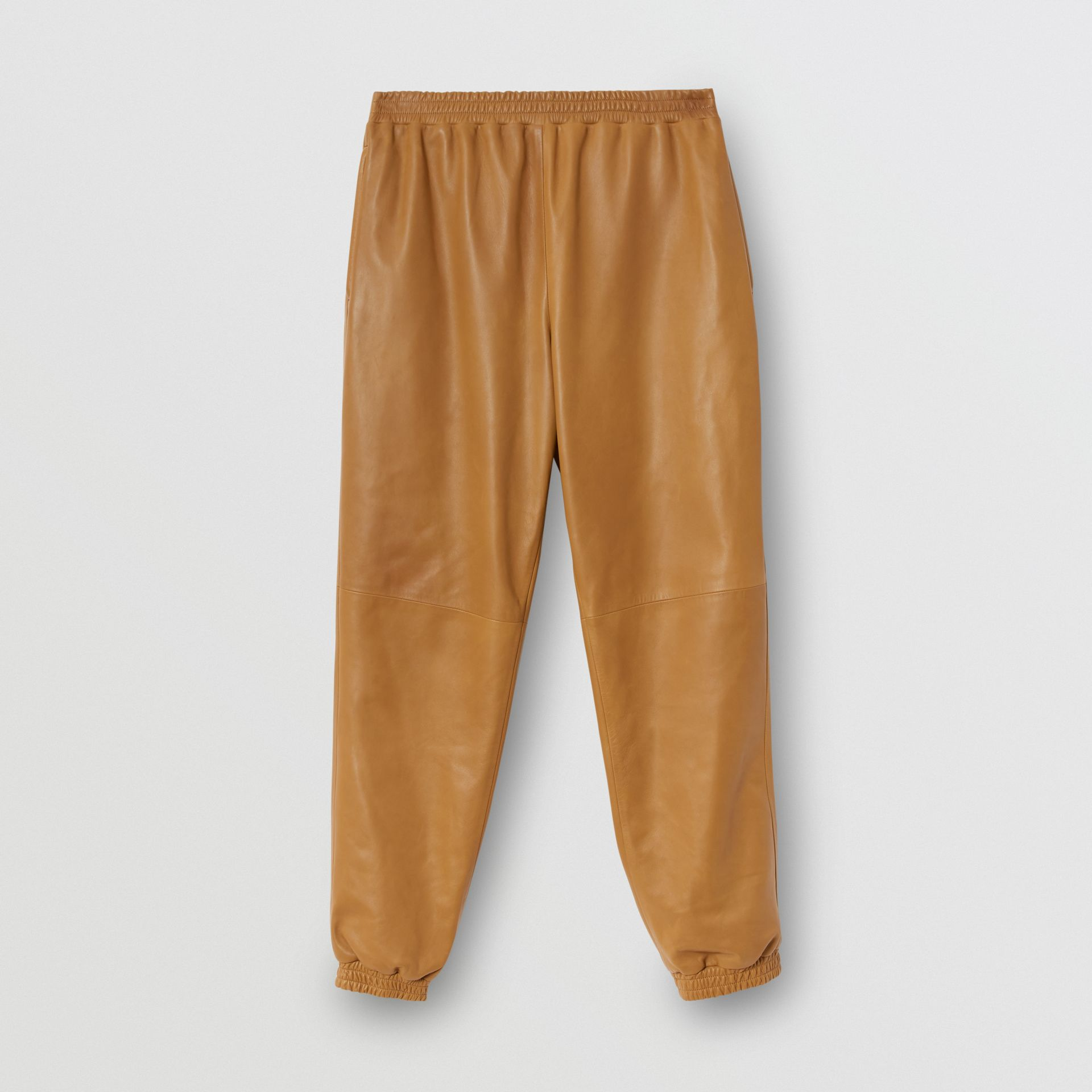 Plonge Lambskin Trackpants in Warm Walnut - Men | Burberry - gallery image 3