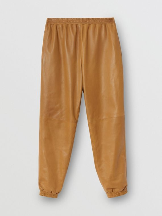 Plonge Lambskin Trackpants in Warm Walnut