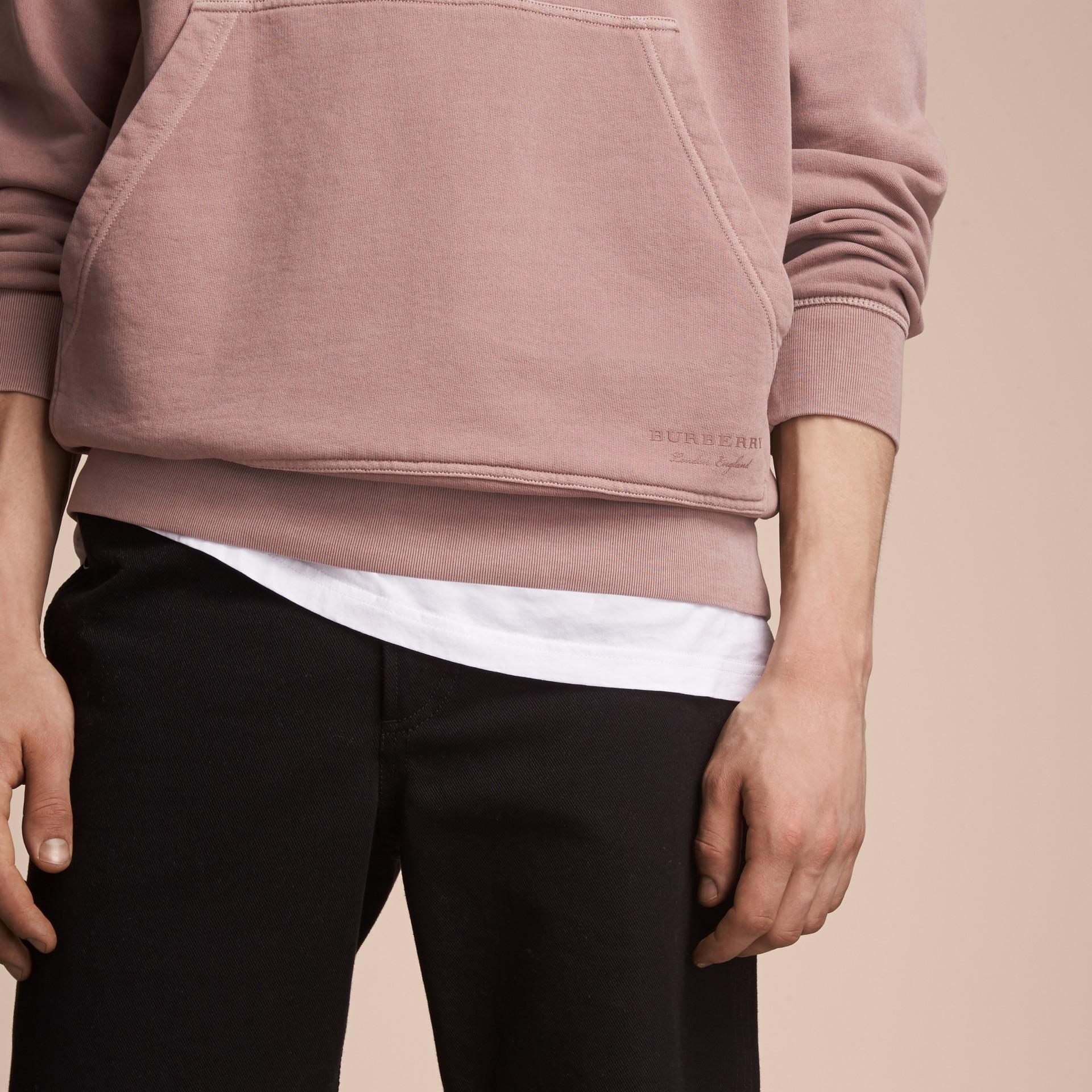 Unisex Pigment-dyed Cotton Oversize Sweatshirt Dusty Mauve - gallery image 5