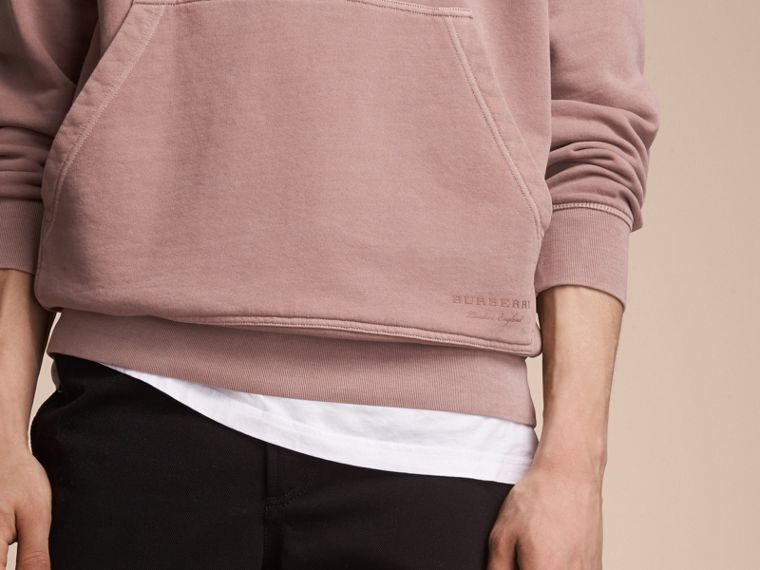 Unisex Pigment-dyed Cotton Oversize Sweatshirt Dusty Mauve - cell image 4