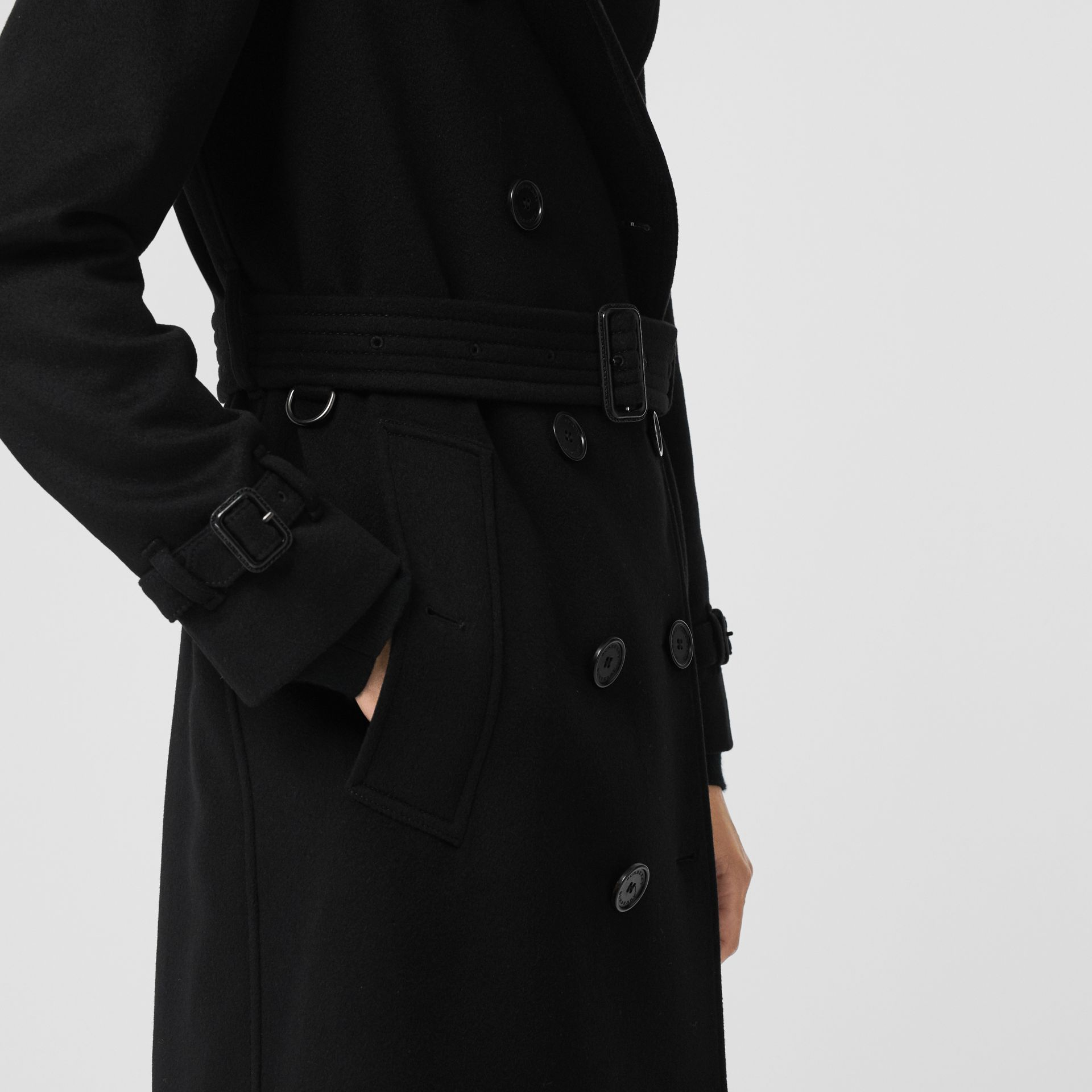 Cashmere Trench Coat in Black - Women | Burberry Canada - gallery image 5