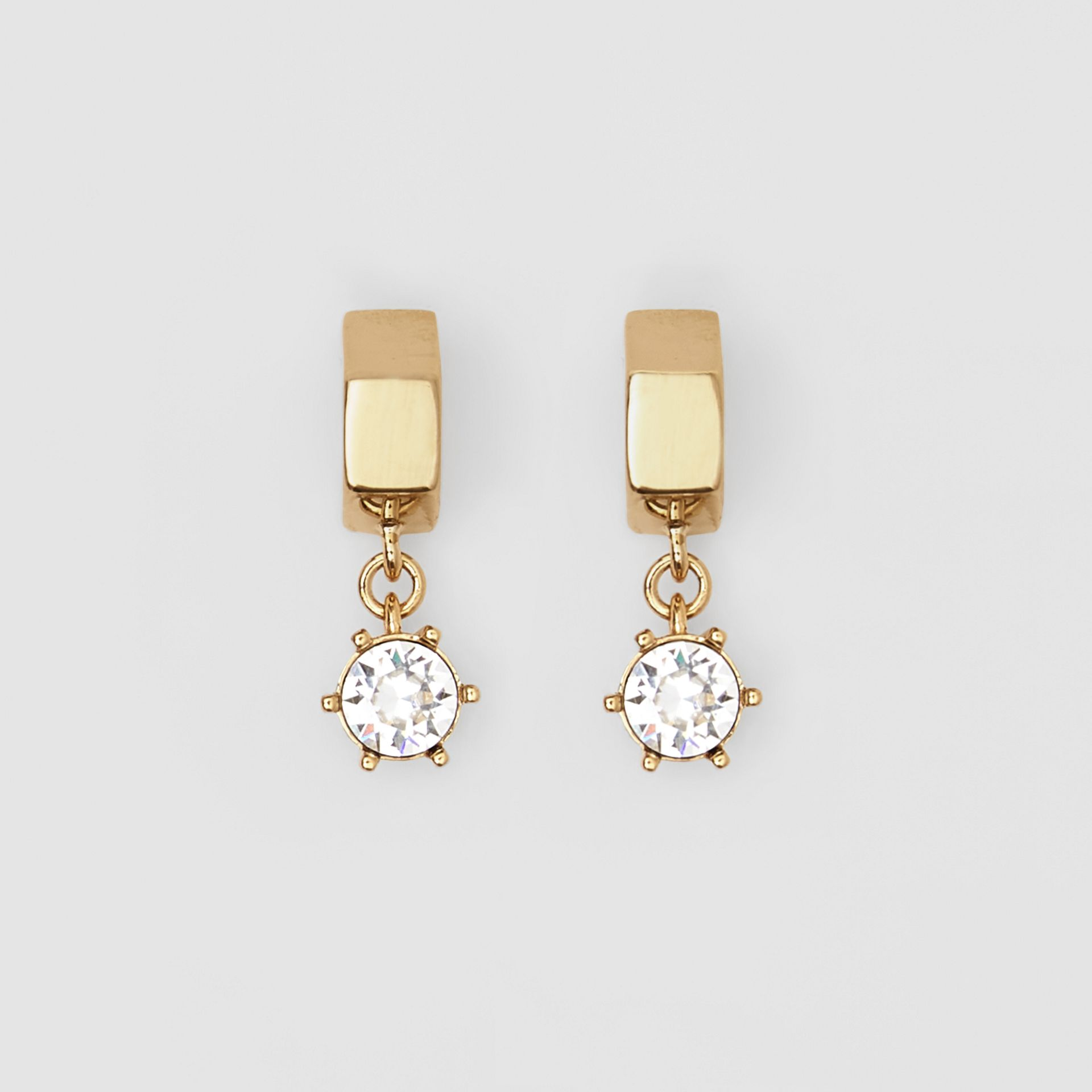 Crystal Charm Gold-plated Nut Earrings in Light - Women | Burberry - gallery image 0