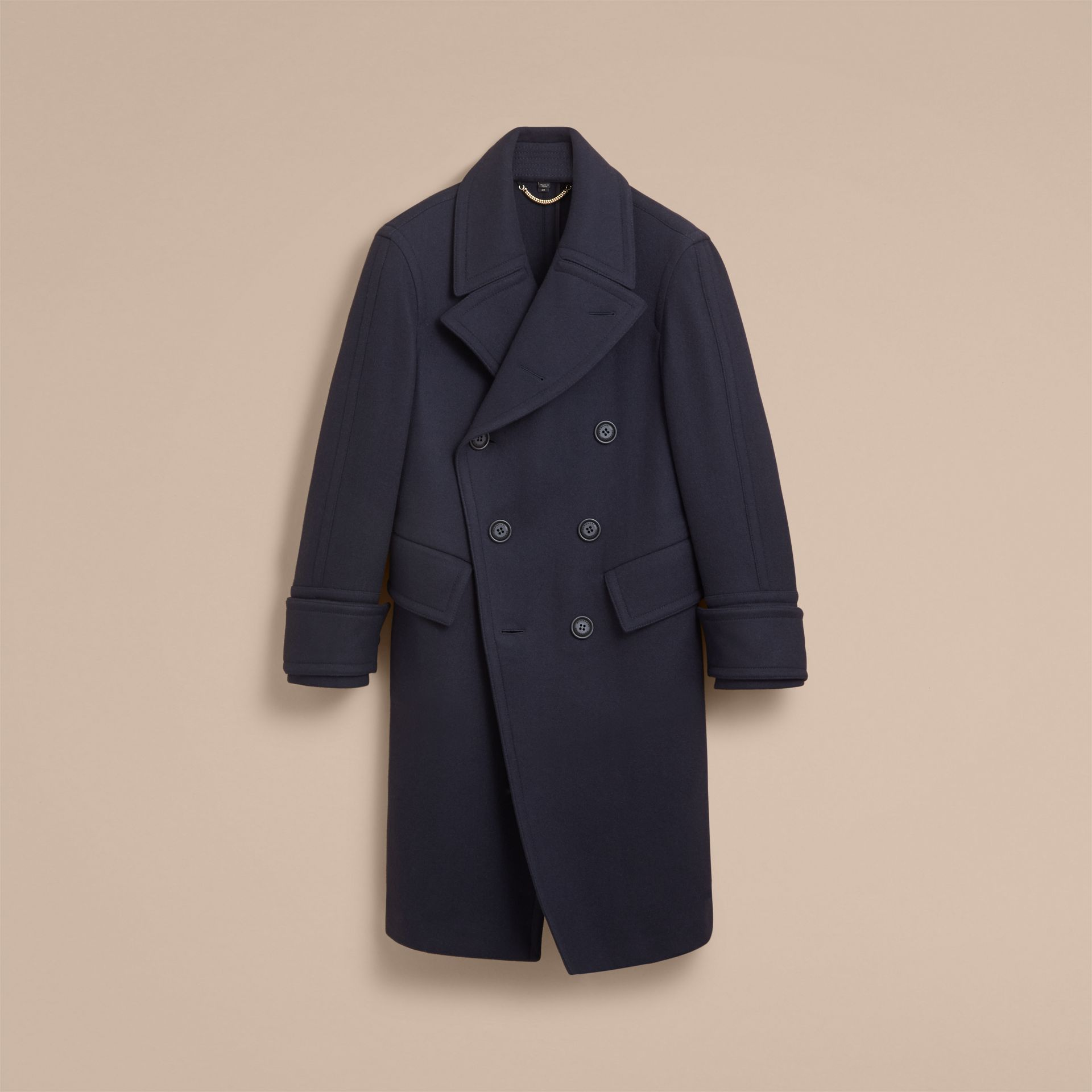 Detachable Cuff Stretch Cashmere Pea Coat - Men | Burberry - gallery image 4