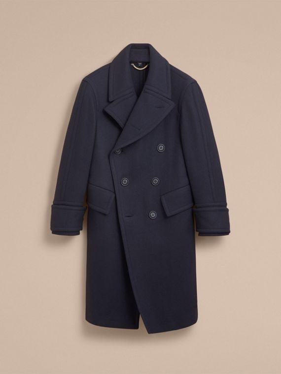 Detachable Cuff Stretch Cashmere Pea Coat - Men | Burberry Canada - cell image 3