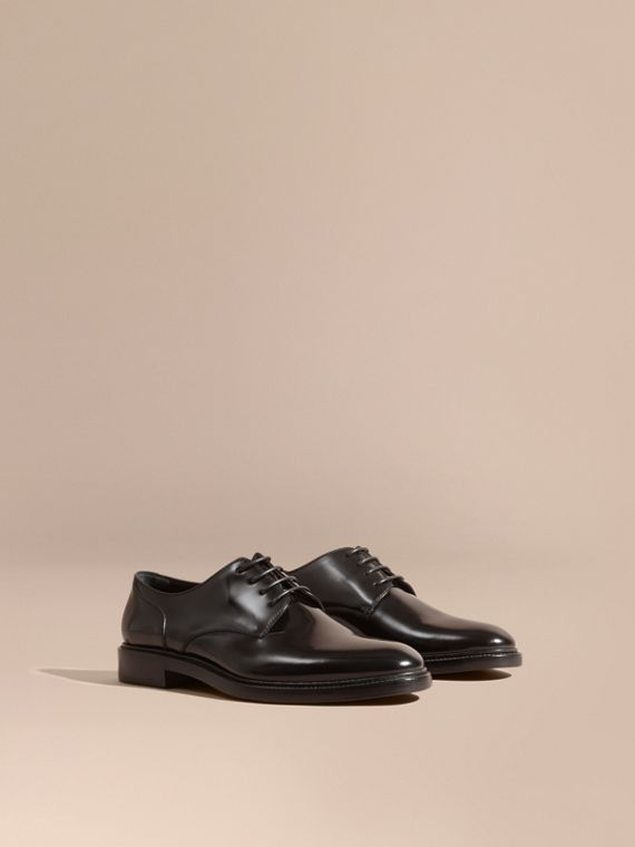 Leather Derby Shoes Black
