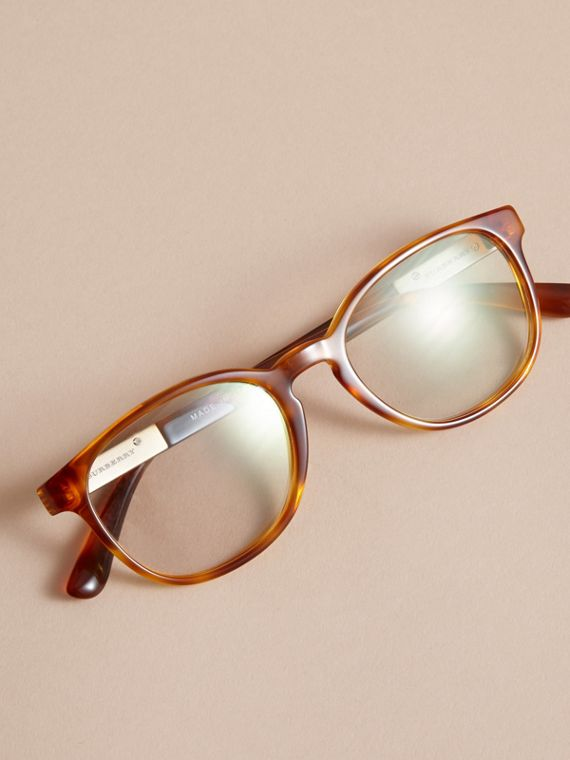 Check Detail Round Optical Frames Amber - cell image 2