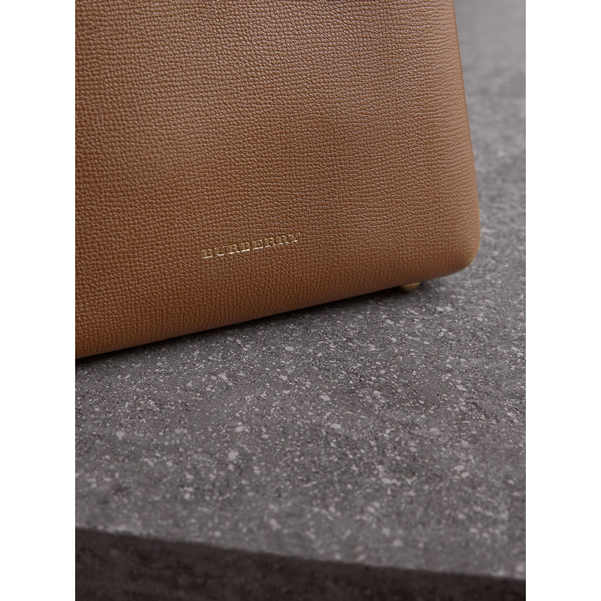 The Baby Banner in Leather and House Check in Tan - Women | Burberry United Kingdom - gallery image 1