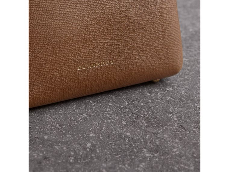 The Baby Banner in Leather and House Check in Tan - Women | Burberry United Kingdom - cell image 1
