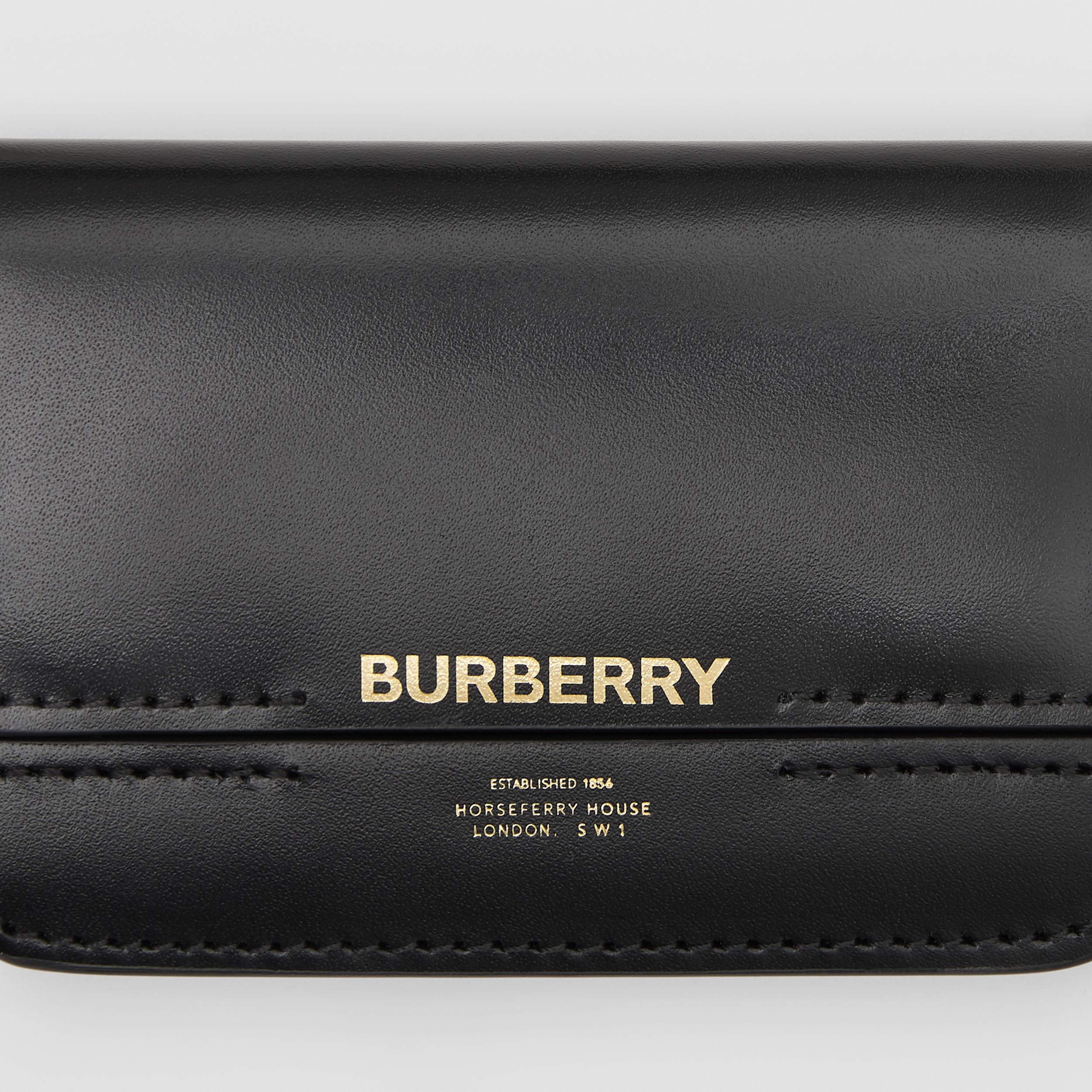 Horseferry Print Card Case with Detachable Strap in Black | Burberry - 2