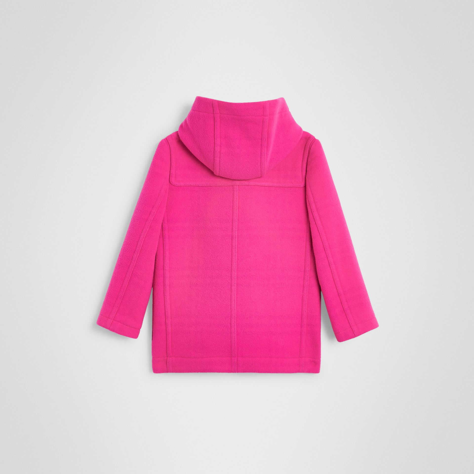 Double-faced Wool Duffle Coat in Neon Pink | Burberry - gallery image 3