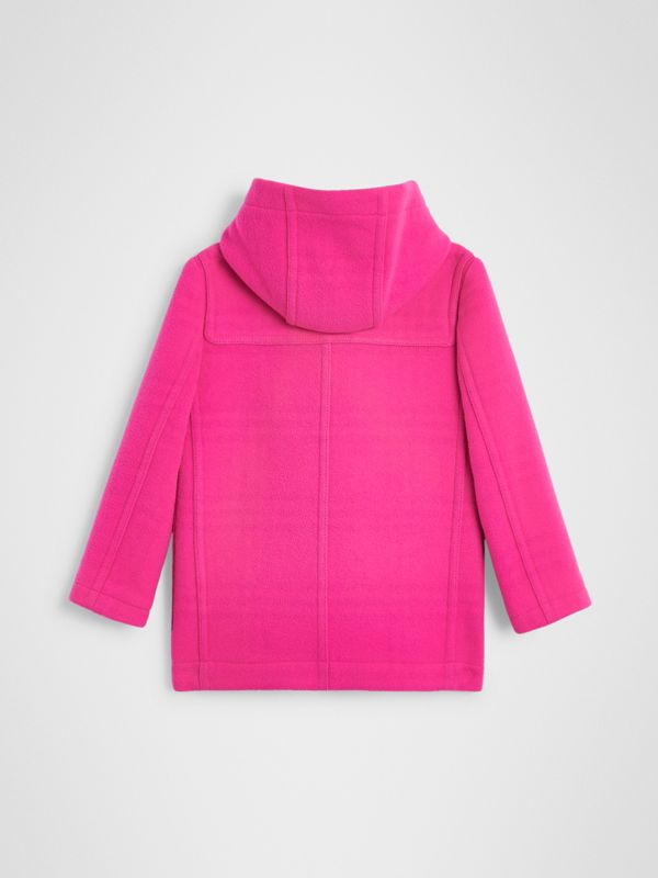 Double-faced Wool Duffle Coat in Neon Pink | Burberry - cell image 3