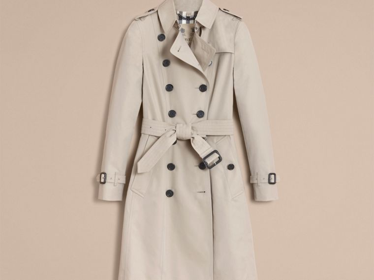 Stone The Chelsea – Long Heritage Trench Coat Stone - cell image 4