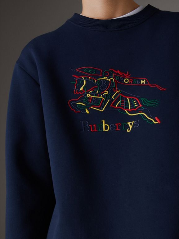 Reissued Jersey Sweatshirt in Dark Blue - Women | Burberry Canada - cell image 1
