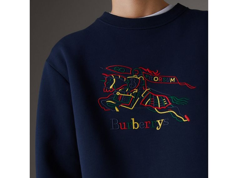 Reissued Jersey Sweatshirt in Dark Blue - Women | Burberry United Kingdom - cell image 1