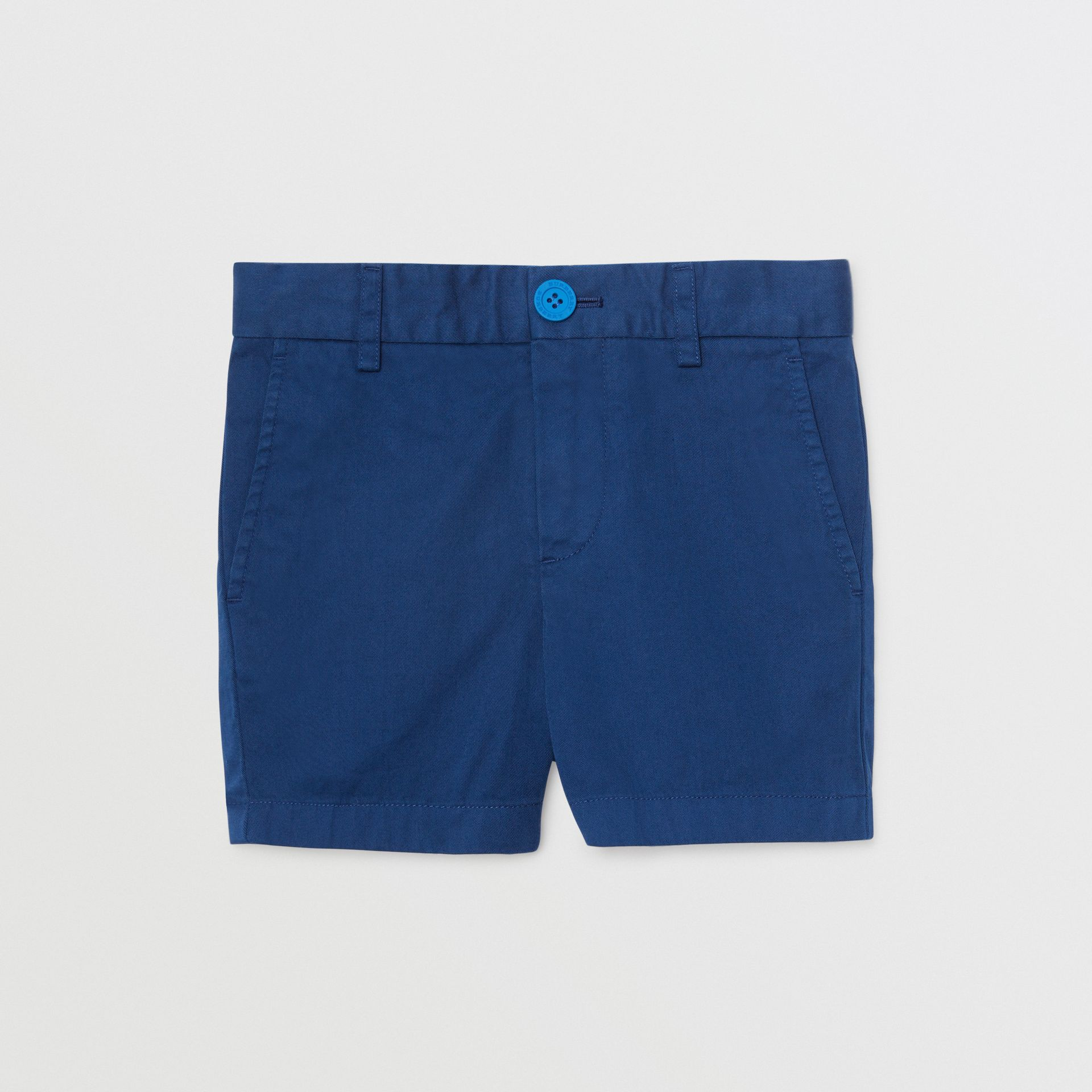 Cotton Chino Shorts in Bright Navy | Burberry - gallery image 0