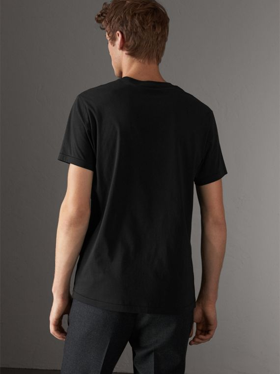 Cotton Jersey T-shirt in Black - Men | Burberry - cell image 2