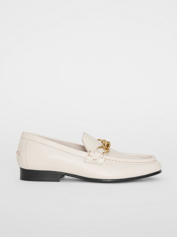 The Leather Link Loafer in Ash White