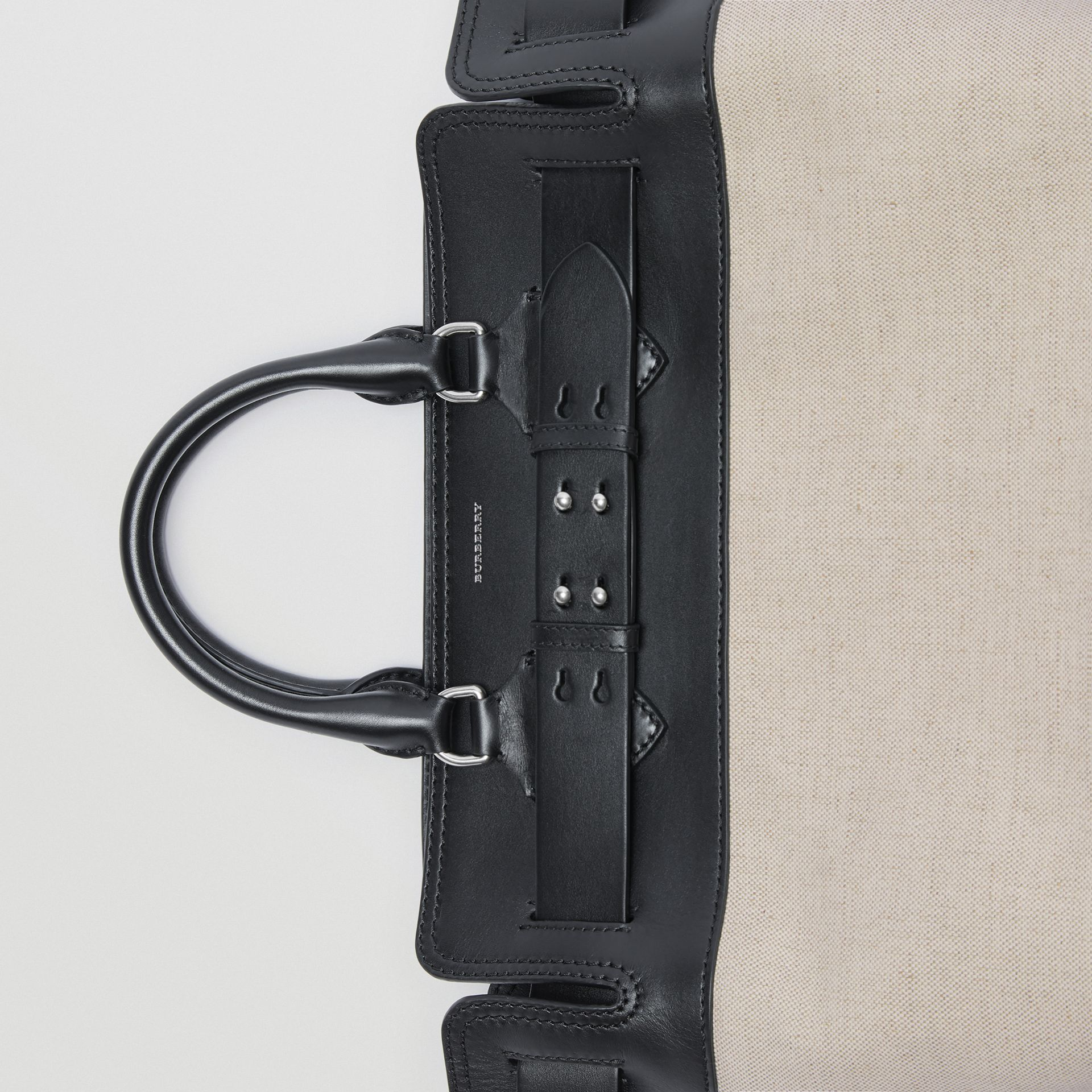 The Medium Belt Bag aus Canvas und Leder (Schwarz/steinfarben) - Damen | Burberry - Galerie-Bild 1