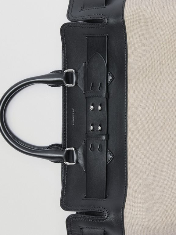 The Medium Belt Bag aus Canvas und Leder (Schwarz/steinfarben) - Damen | Burberry - cell image 1