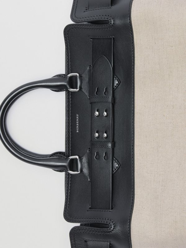 The Medium Canvas and Leather Belt Bag in Black/stone - Women | Burberry United Kingdom - cell image 2