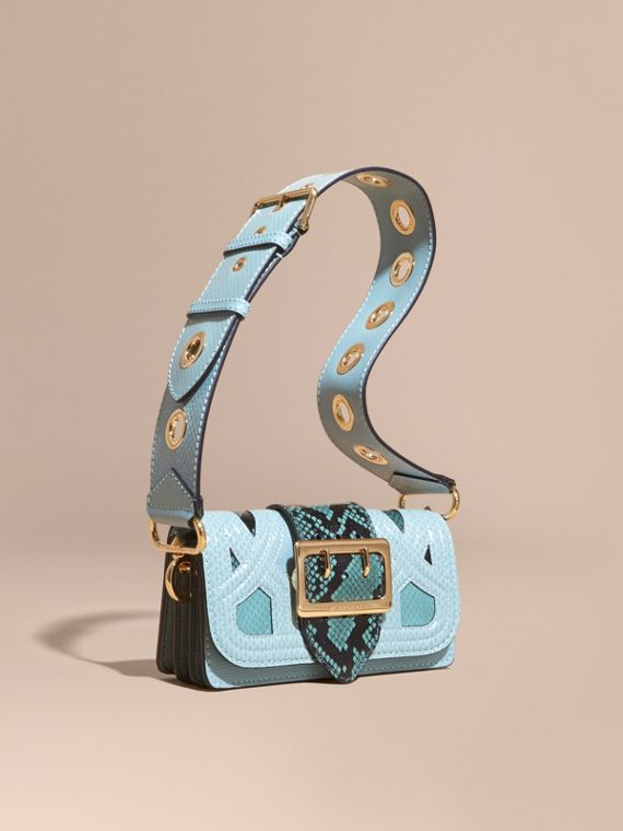 Sac The Patchwork en peau de serpent et cuir velours