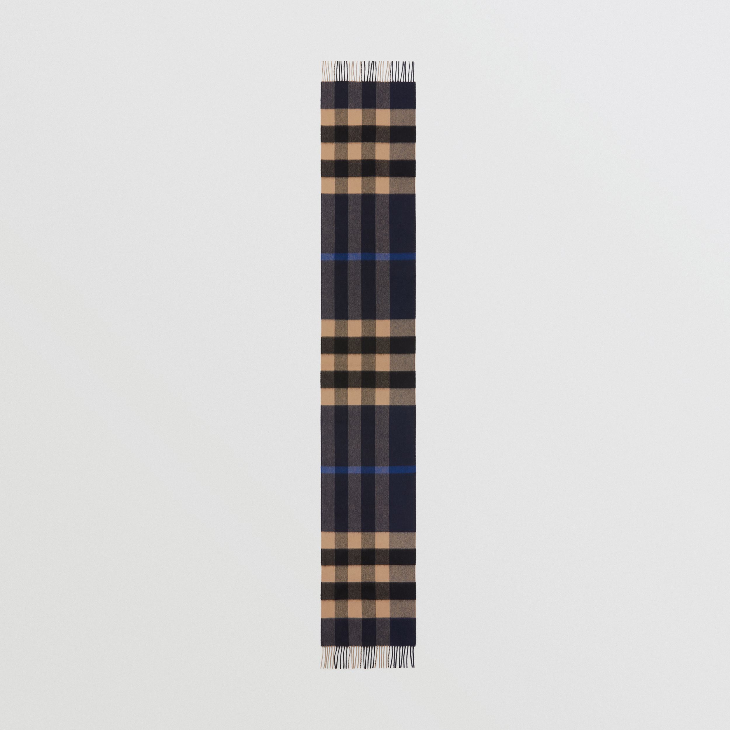 Check Cashmere Scarf in Indigo | Burberry - 4