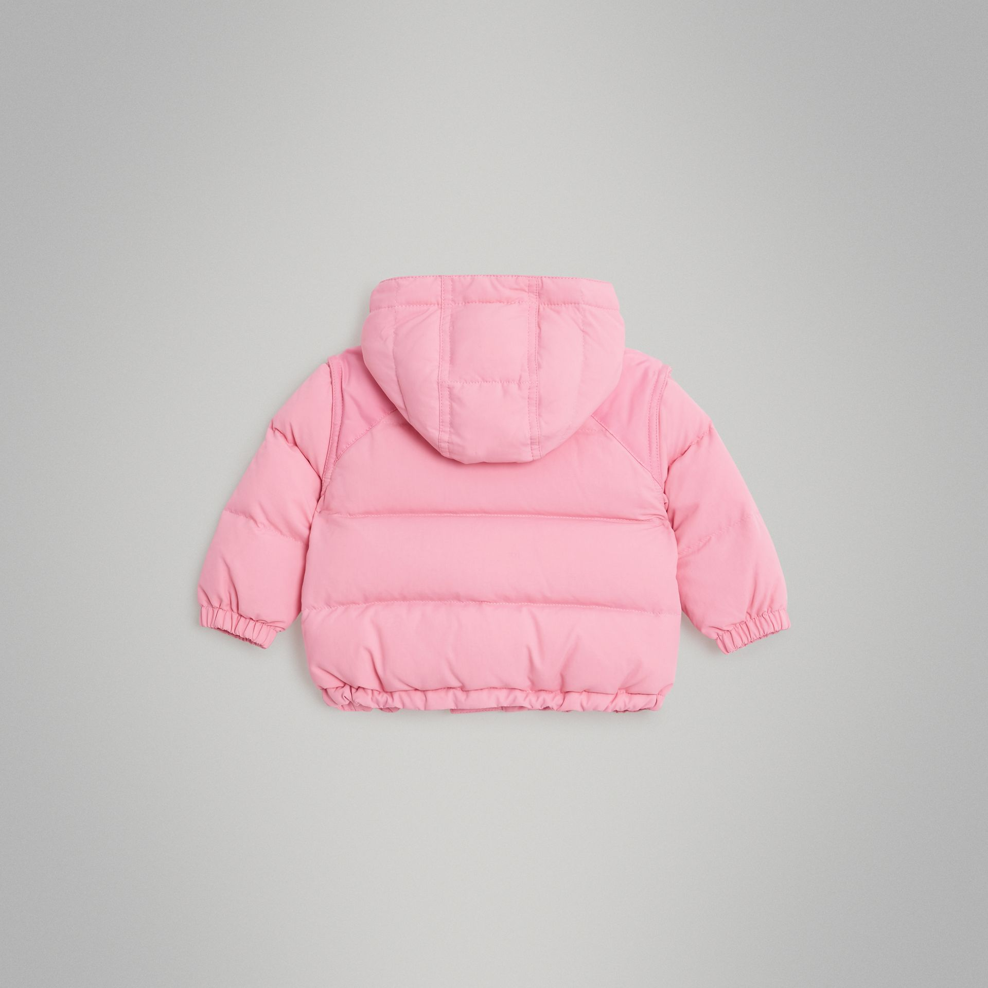 Down-filled Hooded Puffer Jacket in Ice Pink - Children | Burberry - gallery image 3