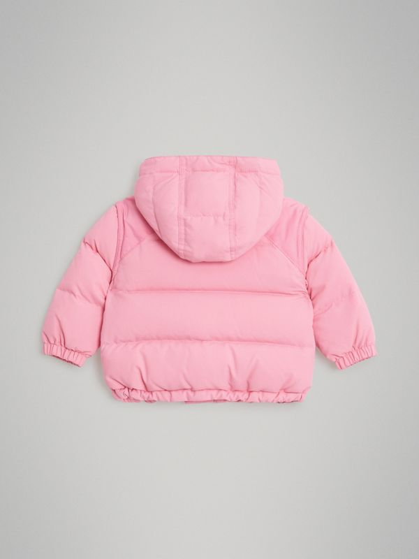 Down-filled Hooded Puffer Jacket in Ice Pink - Children | Burberry Singapore - cell image 3