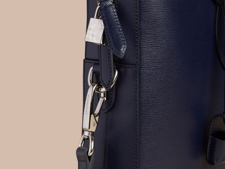 London Leather Briefcase in Dark Navy - cell image 4