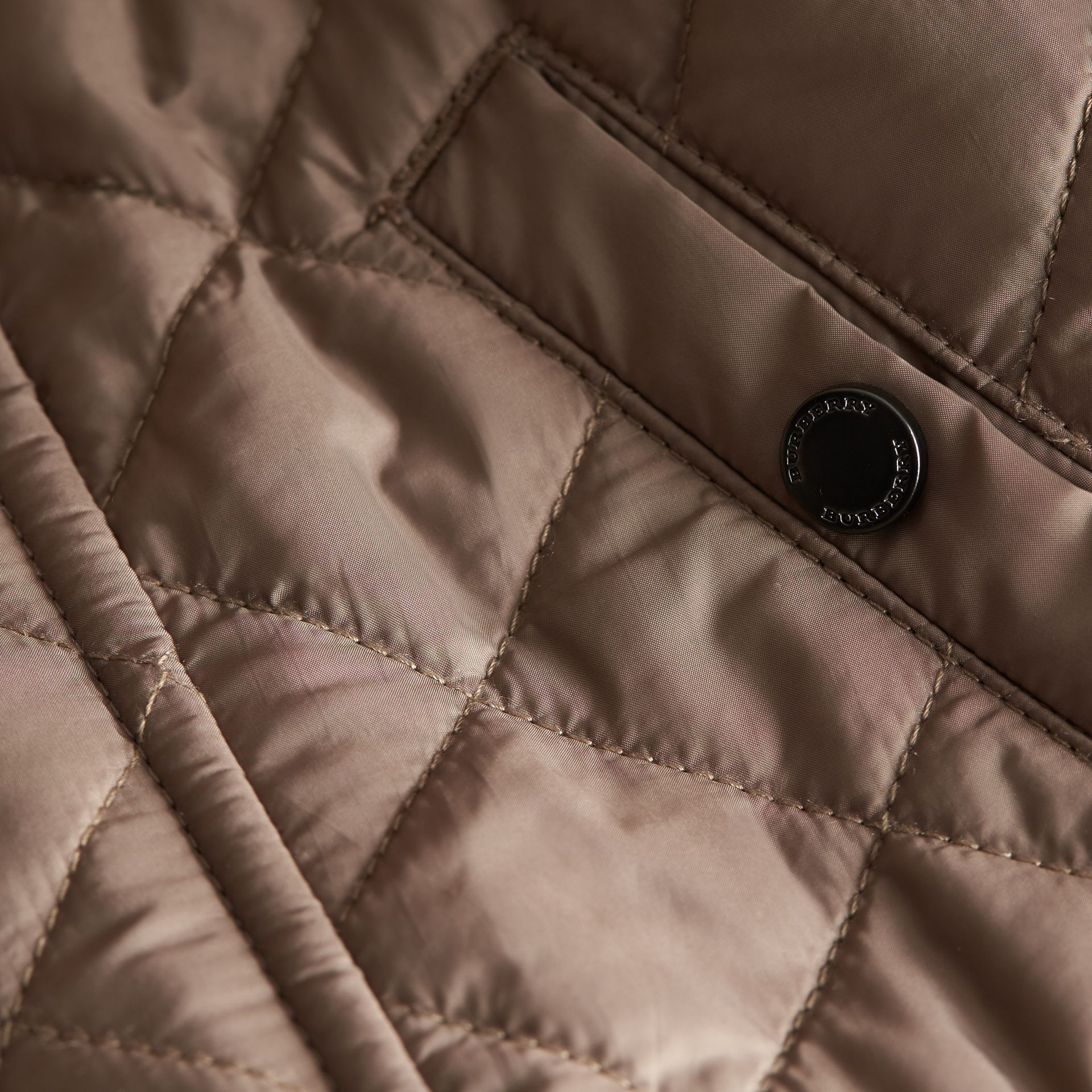 Lightweight Quilted Jacket in Dark Mushroom | Burberry - gallery image 2
