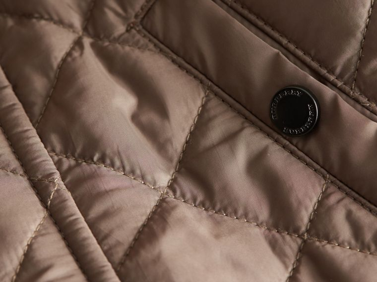 Lightweight Quilted Jacket in Dark Mushroom | Burberry - cell image 1