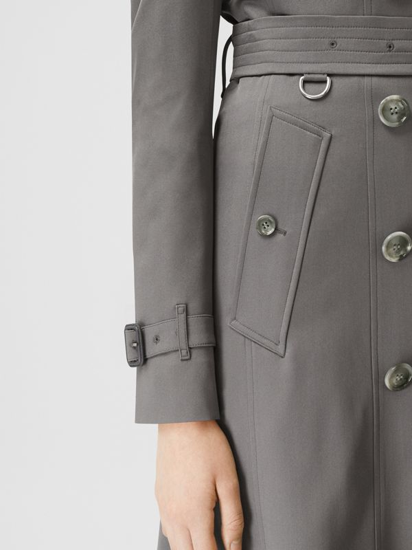 Silk Trench Coat in English Grey - Women | Burberry - cell image 3