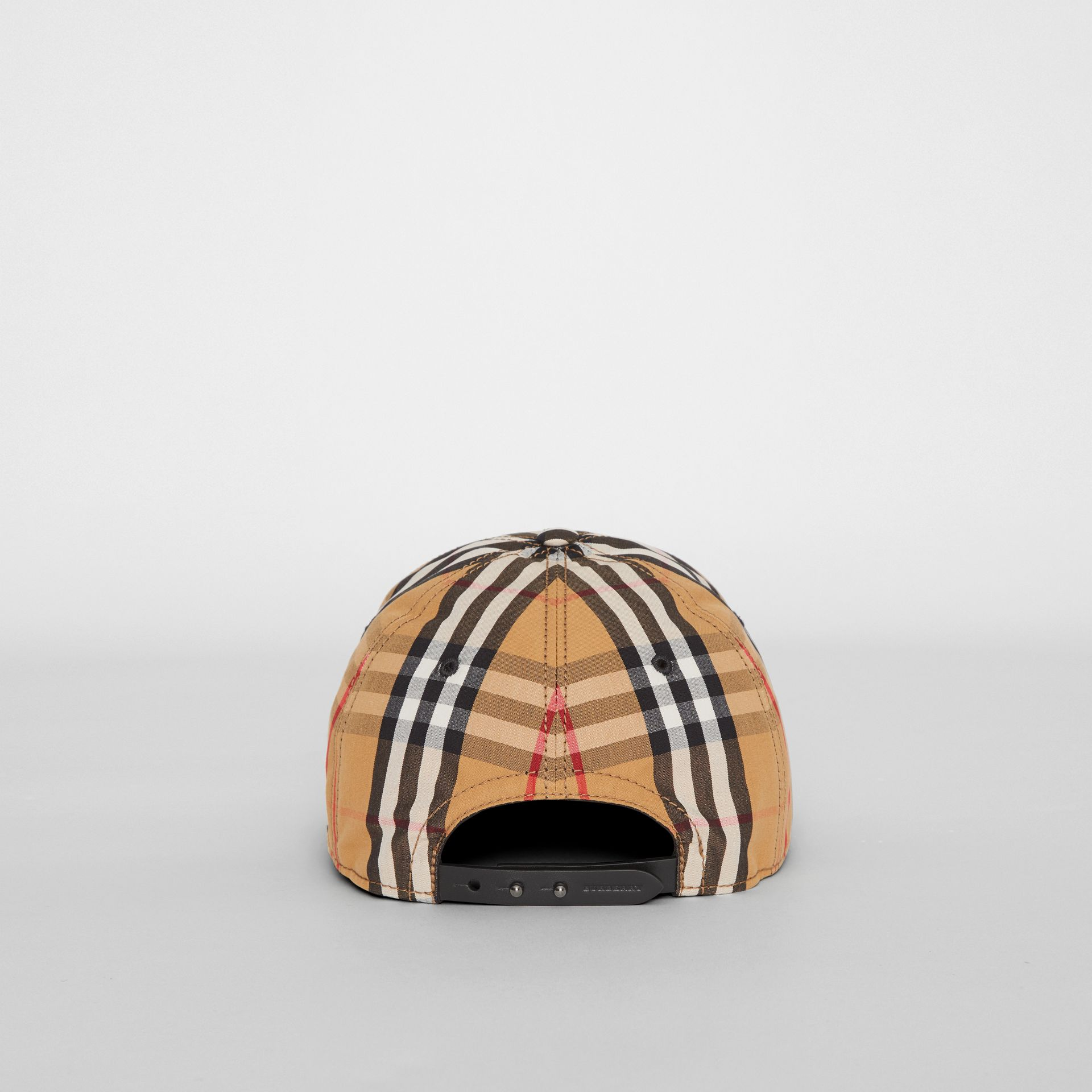 Vintage Check Baseball Cap in Antique Yellow | Burberry United Kingdom - gallery image 4