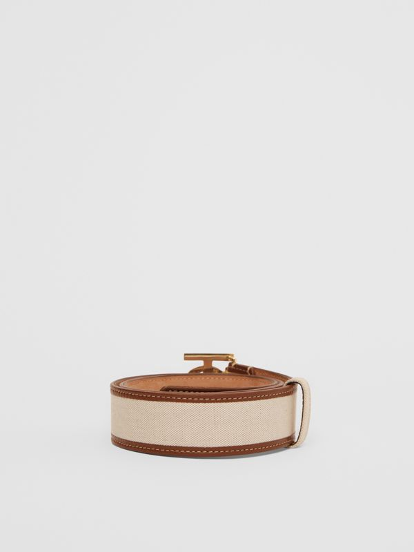 Monogram Motif Canvas and Leather Belt in Natural - Women | Burberry United Kingdom - cell image 3