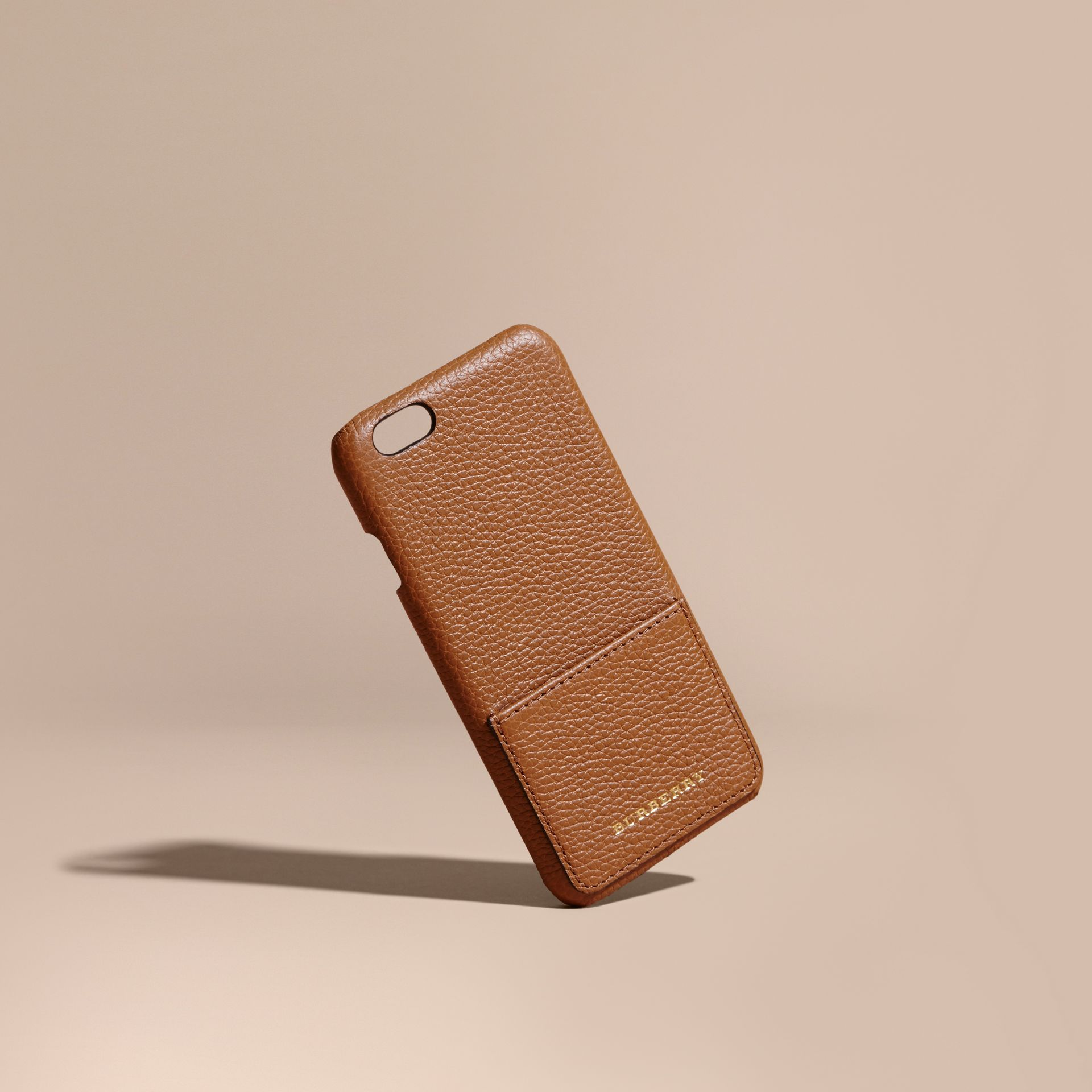 Tan Grainy Leather iPhone 6 Case - gallery image 1