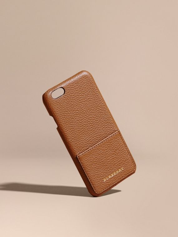 Custodia per iPhone 6 in pelle a grana - Donna | Burberry